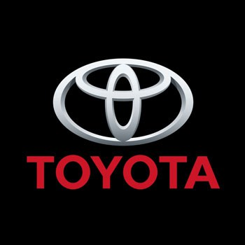 Toyota Logo.  Here as a result of Steve's producing.